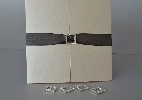 Wedding Stationery Square Diamonte Buckle