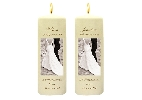 Image of Monochrome Couple Side Candles with Keepsake Wraps