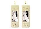 Wedding Stationery Monochrome Couple Side Candles with Keepsake Wraps