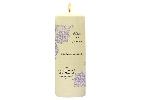 Wedding Stationery Lace Design Candle with Keepsake Wrap