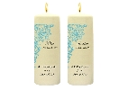 Image of Lace Design Side Candles with Keepsake Wraps