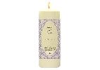 Wedding Stationery Oval Flock Candle with Keepsake Wrap