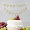 Wedding Stationery Cake Decoration-Vintage Bunting