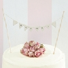 Wedding Stationery Cake Decoration-White Bunting