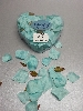 Wedding Stationery Fabric Petals Teal