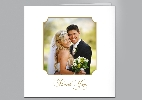 Wedding Stationery Reverse Corner Square Frame