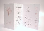 Wedding Stationery Double Fold+Bookmark (554)