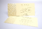 Wedding Stationery DL Pearl Emboss Panel (597)