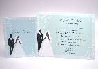 Wedding Stationery Silhouette Bride + Groom (598)