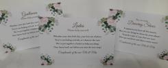 Wedding Stationery Bathroom Signs