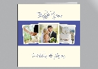 Wedding Stationery Three Photo Colour Panel