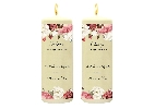 Wedding Stationery Pair of Side Candles Rustic