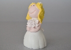 Wedding Stationery Bride Cake Top with Blonde Hair