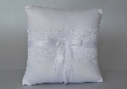 Wedding Stationery White Lace Ring Cushion