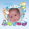 Baby Cards Boy - Photo Frame and Train