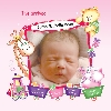 Baby Cards Girl - Photo Frame and Train