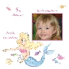 Baby Cards Girl Birthday Invitation
