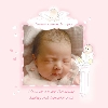 Baby Cards Christening Girl - Baby on Font