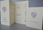 Wedding Stationery Bookmark with Design Options (308)